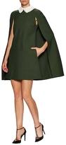 Valentino Cape Sleeve A-Line Dress