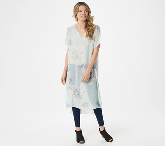 Vince Camuto Pagoda Blossoms Tunic with Side Slits