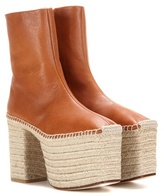 Balenciaga Platform Leather Espadrilles
