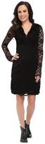 Stetson Black Stretch Lace V-Neck Dress