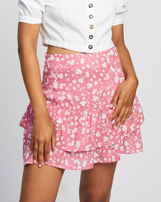 All About Eve Abstract Ditsy Mini Skirt