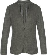 John Varvatos Linen-blend knit cardigan