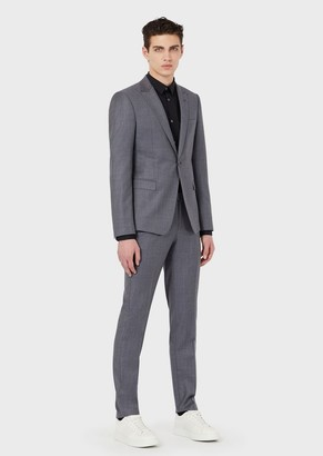 Emporio Armani Pure Virgin-Wool, Single-Breasted Suit