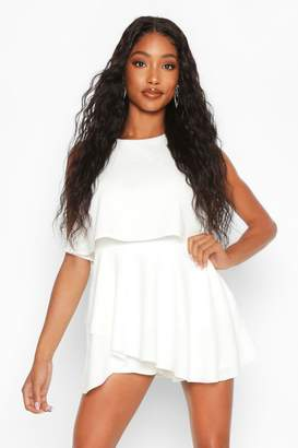boohoo Double Layer Playsuit Dress