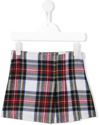Il Gufo Tartan Mini Skirt