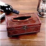 Vintiquewise 10.5 in. W x 6 in. D x 4.5 in. H Wood Antique Style Tissue Box