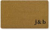 Williams-Sonoma Williams Sonoma Double Initial Monogram Doormat