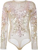 Amen sequins embellished top - women - Polyamide/Spandex/Elastane/PVC - 42