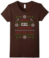 Women's Merry Christmas Shitters Full Ugly Christmas Sweater Large