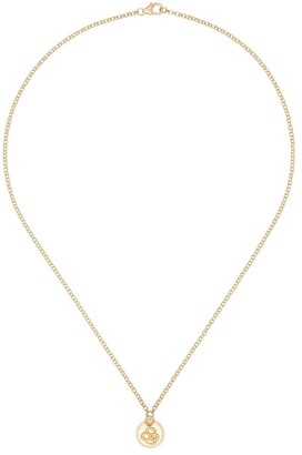 Foundrae 18kt Gold Snake Charm Necklace