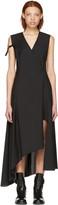 Yang Li Black Asymmetric Cross Over Dress