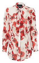 Nicholas Poppy Floral Ruffle Shirt