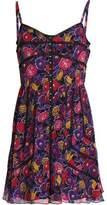 Anna Sui Floral-Print Silk Mini Dress