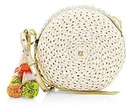Eric Javits Women's Squishee Bali Woven Round Crossbody Bag