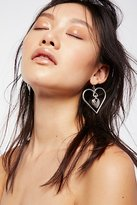 Vanessa Mooney Heart To Heart Charm Earrings by at Free People