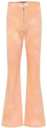 Ellery Never on Sunday tie-dye flared jeans