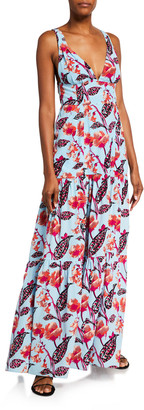 A.L.C. Rae Sleeveless Floral-Print Silk Maxi Dress
