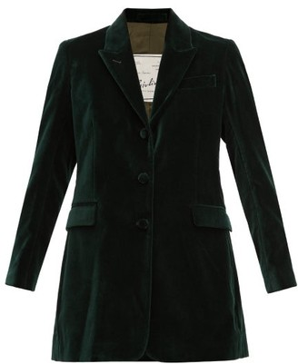 Giuliva Heritage Collection Karen Single-breasted Velvet Blazer - Green