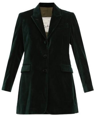 Giuliva Heritage Collection Karen Single-breasted Velvet Blazer - Womens - Green