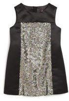 Milly Minis Little Girl's Sequined Panel Dress