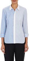 TOMORROWLAND Women's Mixed-Stripe Cotton Shirt-BLUE