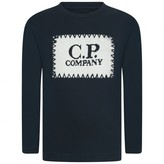 C.P. Company C.P. CompanyBoys Navy Top With Knitted Logo