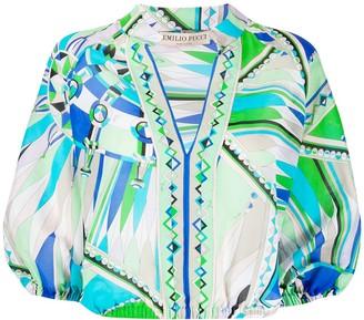 Emilio Pucci Bes print beach blouse