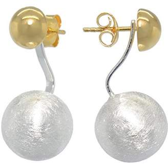 Melina Women's Earrings Vario Duo Hemisphere Ear Studs Earrings Combo Ball & 925 silver yellow gold plated - 1500196