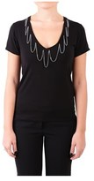 Roy Rogers Roy Roger's Women's Black Modal T-shirt.