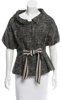 Giambattista Valli Tweed Tie-Accented Jacket