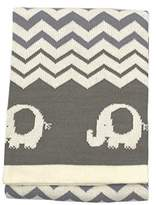 Koala Baby Cotton Jacquard Knit Blanket - Elephants