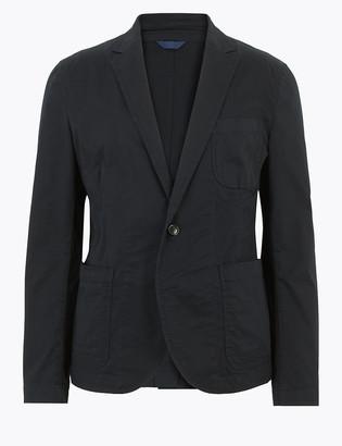 Marks and Spencer Slim Fit Cotton Utility Blazer