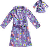 Dollie & Me Purple Floral Pajama Set & Doll Outfit - Girls