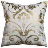 Metallic Scroll Pillow
