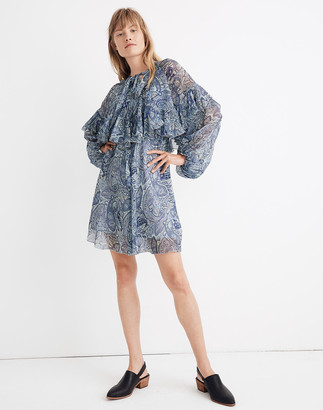 Madewell Karen Walker Silk Love Well Mini Dress