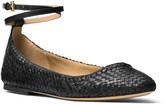 Michael Kors Dunbar Woven Ankle Strap Flats