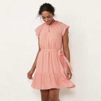Lauren Conrad Women's Keyhole Midi Dress