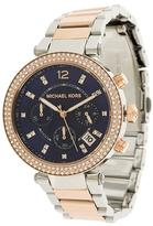 Michael Kors embellished two-tone watch