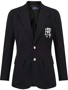 Ralph Lauren Polo Knit Cotton Blazer