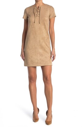 Tommy Hilfiger Lace Up Scuba Dress