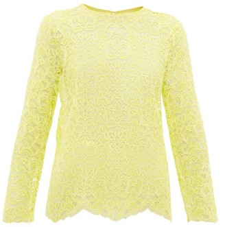 Marques Almeida Scalloped-hem Lace Top - Yellow
