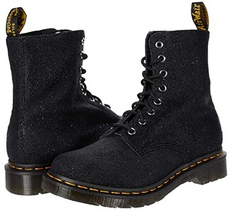 Dr. Martens 1460 Pascal Glitter Ray (Black Glitter Ray) Women's Lace-up Boots