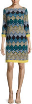 Jessica Howard 3/4-Sleeve Knit Shift Dress - Petite