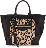 Sam Edelman Porter Snow Leopard Calf Hair Tote Bag