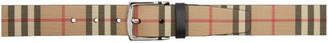 Burberry Beige E-Canvas Vintage Check Belt