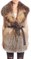 Trilogy Knitted Cross Fox Fur Vest