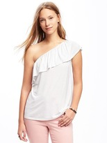Old Navy Relaxed One-Shoulder Top for Women