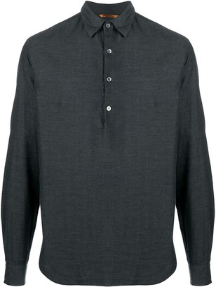 Barena Twill Half Placket Shirt
