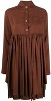 Romeo Gigli Pre Owned 1990s gathered shirt dress