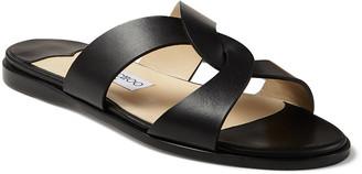 Jimmy Choo Atia Crisscross Flat Slide Sandals